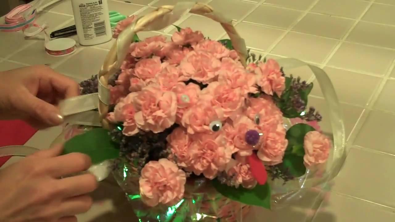 TOMOKO\'S KITCHEN Dog Flower Arrangement.mp4 - YouTube