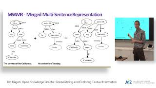 Ido Dagan: Open Knowledge Graphs: Consolidating and Exploring Textual Information