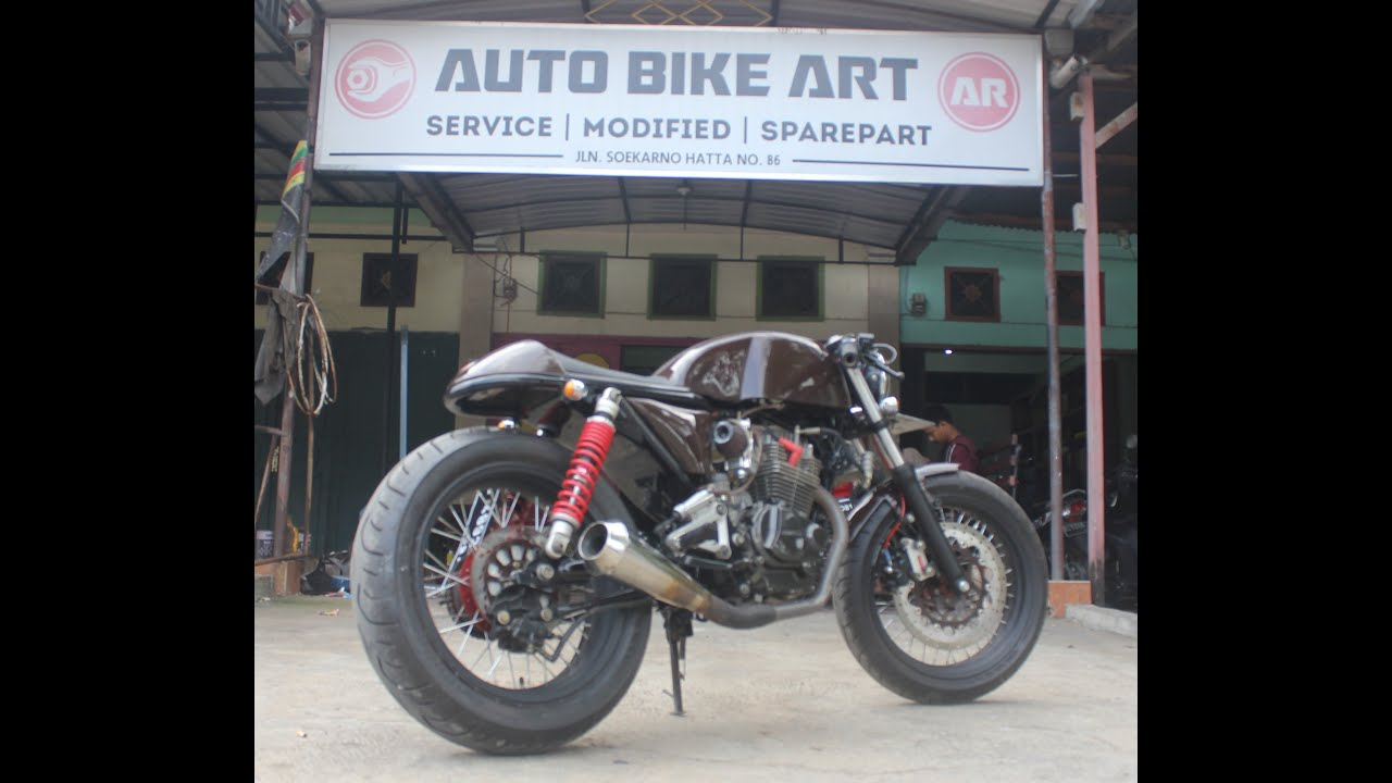 suka modifikasi honda tiger cafe racer - youtube