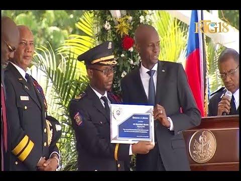 Le Président Jovenel Moïse participe à la célébration du 22ème anniversaire de la PNH
