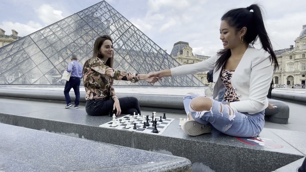 Woman Grandmasters do battle at the Louvre!