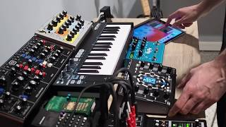 Conductive Labs NDLR Synth Jam #3 with Moog Sirin, Behringer Model D and iPad.