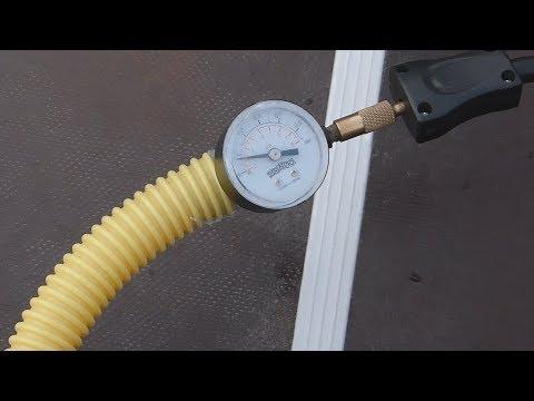 Накачка лодки ПВХ авто компрессором//контроль давления//