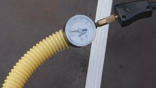 накачка лодки ПВХ авто компрессором//контроль давления