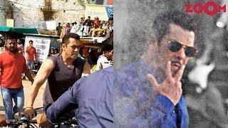 Salman Khan at Dabangg 3 shooting on the sets | Behind the scenes