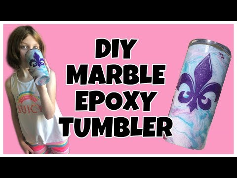 DIY MARBLE EPOXY TUMBLER | HYDRO DIP METHOD