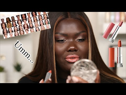 I TRIED MAYBELLINE'S UNIVERSALLY FLATTERING LIPSTICKS|| Nyma Tang