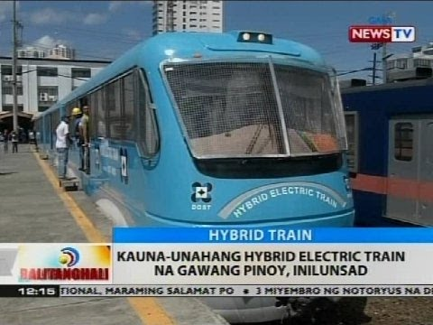 BT: Kauna-unahang hybrid electric train na gawang Pinoy, inilunsad