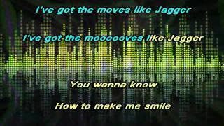 Maroon 5 - Moves Like Jagger karaoke instrumental