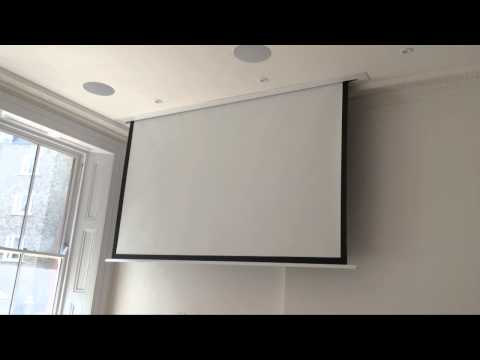 Sapphire In Ceiling Projector Screen In Up Market London