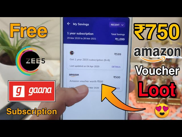 Loot : Free TimesPrime Subscription - Get 1 Year Zee5, Gaana+, ₹750 Amazon Voucher & Many More 😍