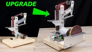 How to make Electric Belt Sander DIY (2 IN ONE) UPDATE (smerigliatrice a nastro)