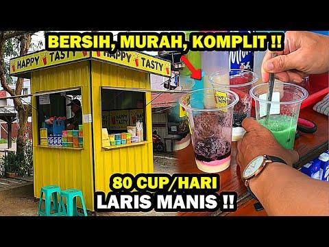 HARGANYA MURAH MERIAH !! TEMPAYNYA KEREN BANGET PAKAI KONTAINER | STREET FOOD