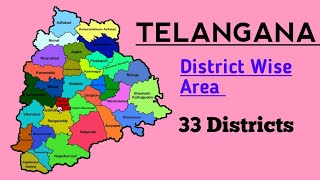 Telangana District Wise Total Area