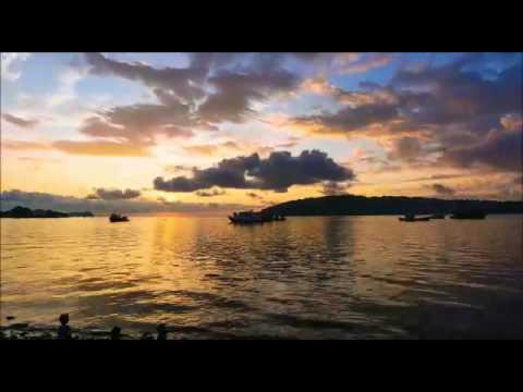 Kota kinabalu waterfront sunset timelapse