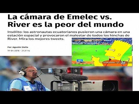 CRITICAS TRAS LA INSÓLITA TRANSMISIÓN DEL PARTIDO ENTRE EMELEC Y RIVER PLATE.