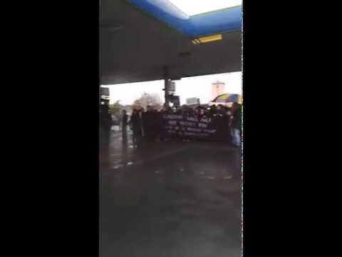 Protest outside Topaz, Bohermore
