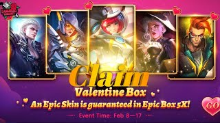 CLAIM YOUR FREE SKIN RIGHT NOW | MLBB valentine's Day Event | Shimio Gaming
