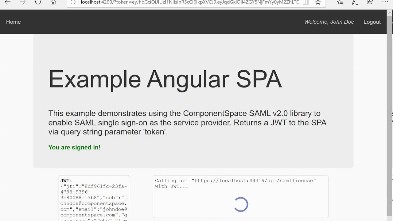 SAML SSO - Angular App, ASP NET Core SP and Okta IdP