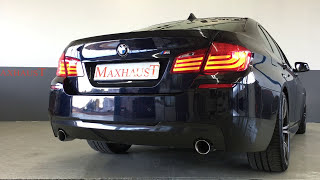 BMW 535d and Maxhaust Active Sound with Maserati Sound