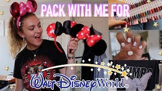PACK WITH ME FOR DISNEY WORLD FLORIDA! Brows, Nails & Travel Essentials✈️