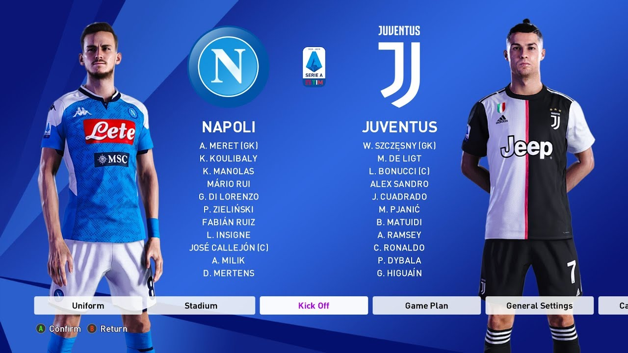 Napoli Vs Juventus Serie A 26 Jan 2020 Gameplay Youtube