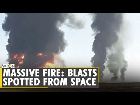 Fire Truck Explodes: Over 300 fuel vehicled gutted in fire | Iran-Afghanistan Border | NASA