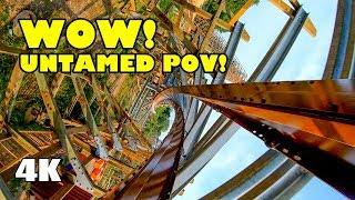 Untamed Roller Coaster INCREDIBLE 4K  POV Walibi Holland 2019