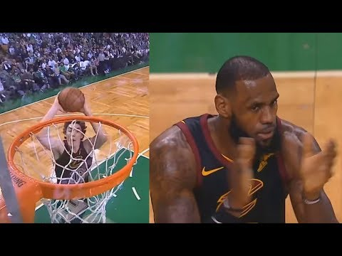 Cedi Osman Misses WIDE OPEN DUNK | LeBron James Clapping His Hands