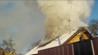29 11 2018 пожар дома г Бобруйск, пер Тимирязева