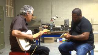 Friday afternoon meeting at LsL: Eric Garcia and Kirk Fletcher
