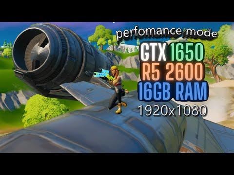 1920x1080 Ryzen 5 2600+gtx 1650 Fortnite Solo Arena Fps Test PERFOMANCE MODE!