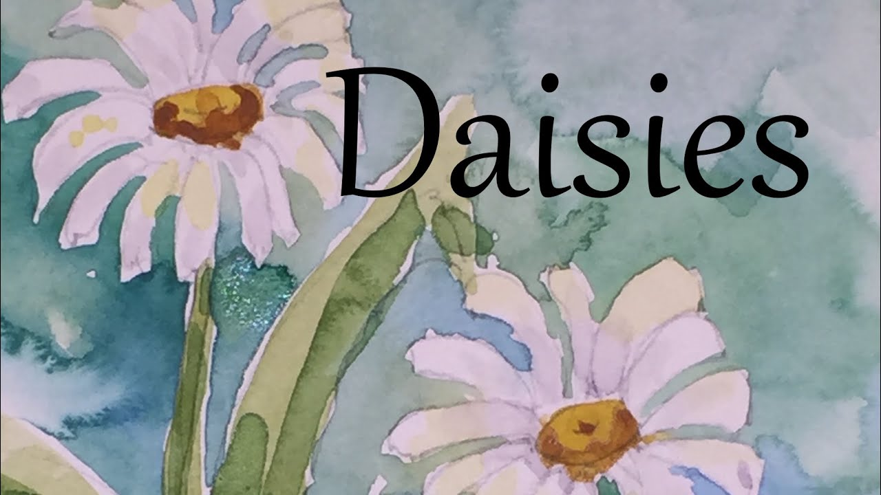How to paint daisies flowers in watercolour watercolor draw drawing how to paint daisies flowers in watercolour watercolor draw drawing tutorial izmirmasajfo