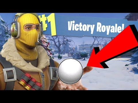 Snowball Launcher Victory In Fortnite Battle Royale