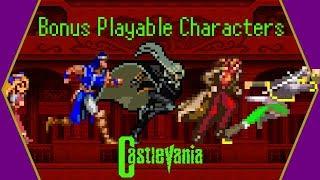 Bonus Playable Characters in Castlevania Games