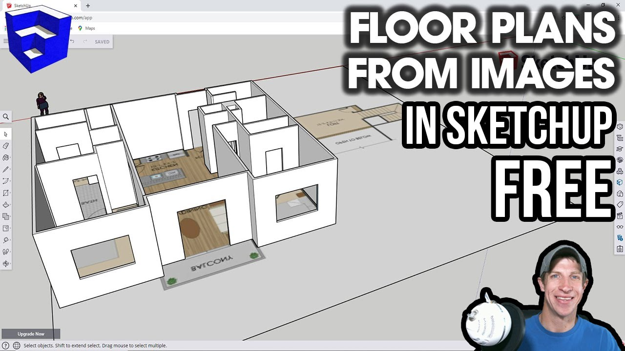 Creating Floor Plans From Images In Sketchup Free Youtube