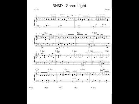 Girls' Generation SNSD  - Green Light @ 5th Album LION HEART [PIANO COVER + SHEET MUSIC]
