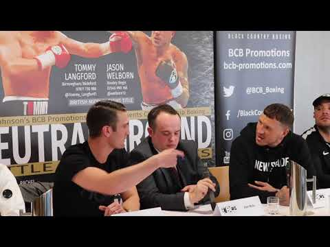 WEST MIDLANDS BEEF! - TOMMY LANGFORD & JASON WELBORN GET INTO IT DURING PRESS CONFERENCE