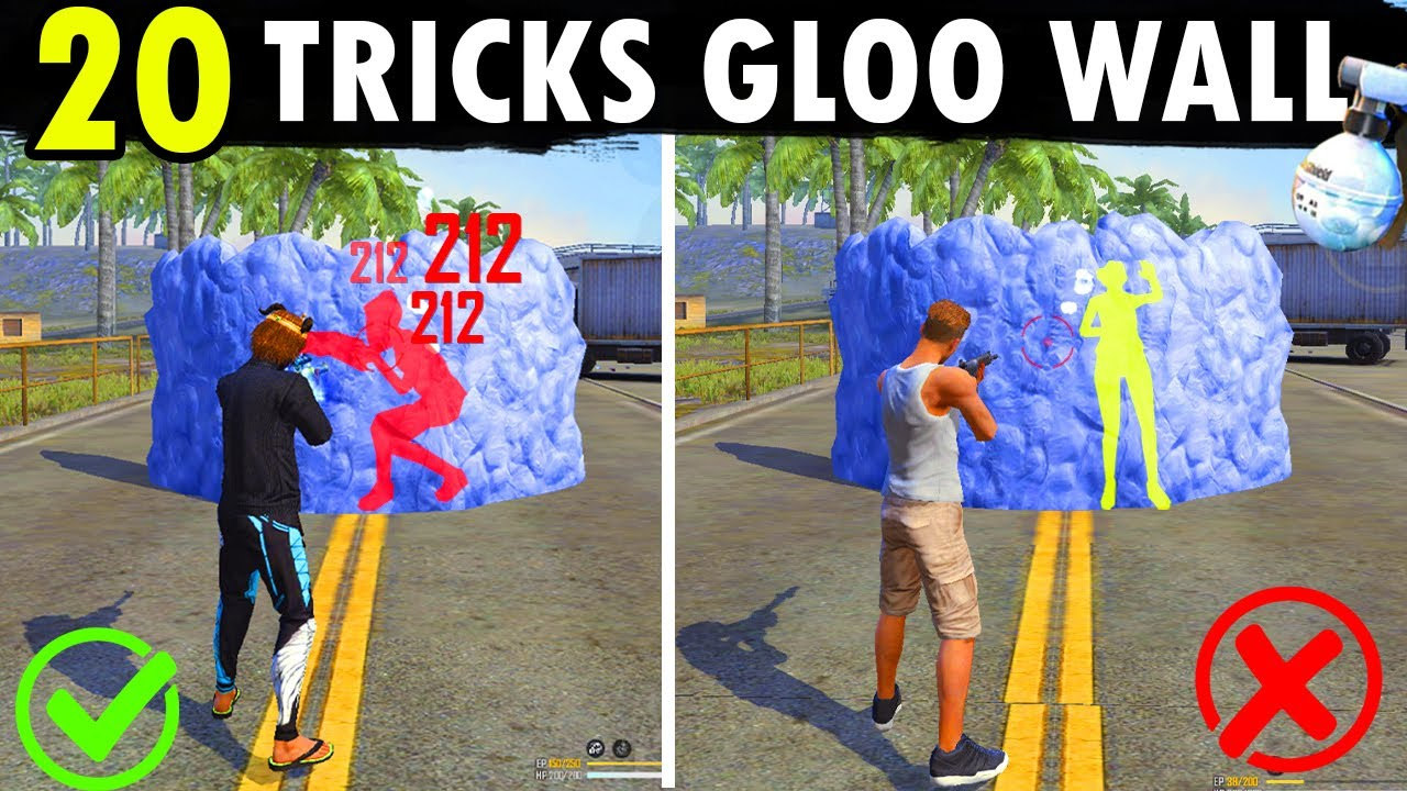 20 TRUCOS CON PAREDES GLOO || ULTIMATE GLOO WALL GUIDE