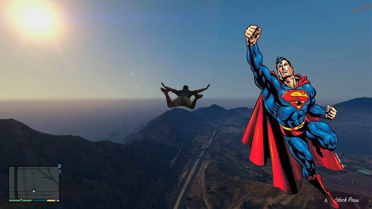 Grand Theft Auto 5 Superman Volando Truco Codigo YouTube