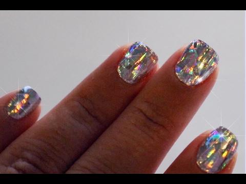 Diamond Holographic Nails