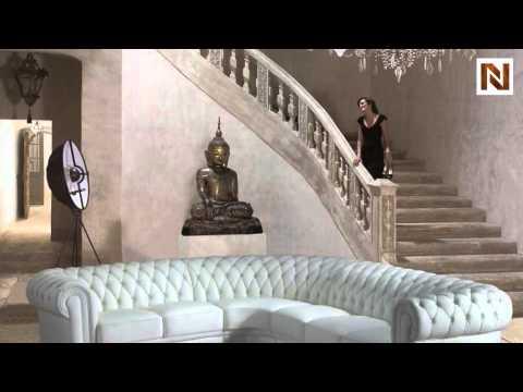 Paris 1 White Tufted Leather Sectional Sofa Vgev2220b Youtube