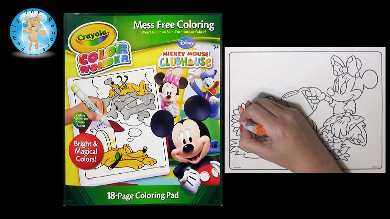 Crayola Color Wonder Mickey Mouse Clubhouse Coloring Book Minnie Mouse Flowers - Family Toy Report