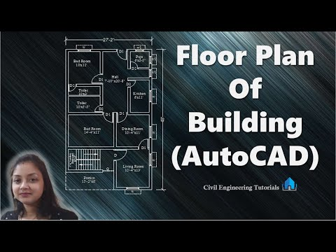 How to draw a floorplan in autocad | floor plan of building | AutoCAD