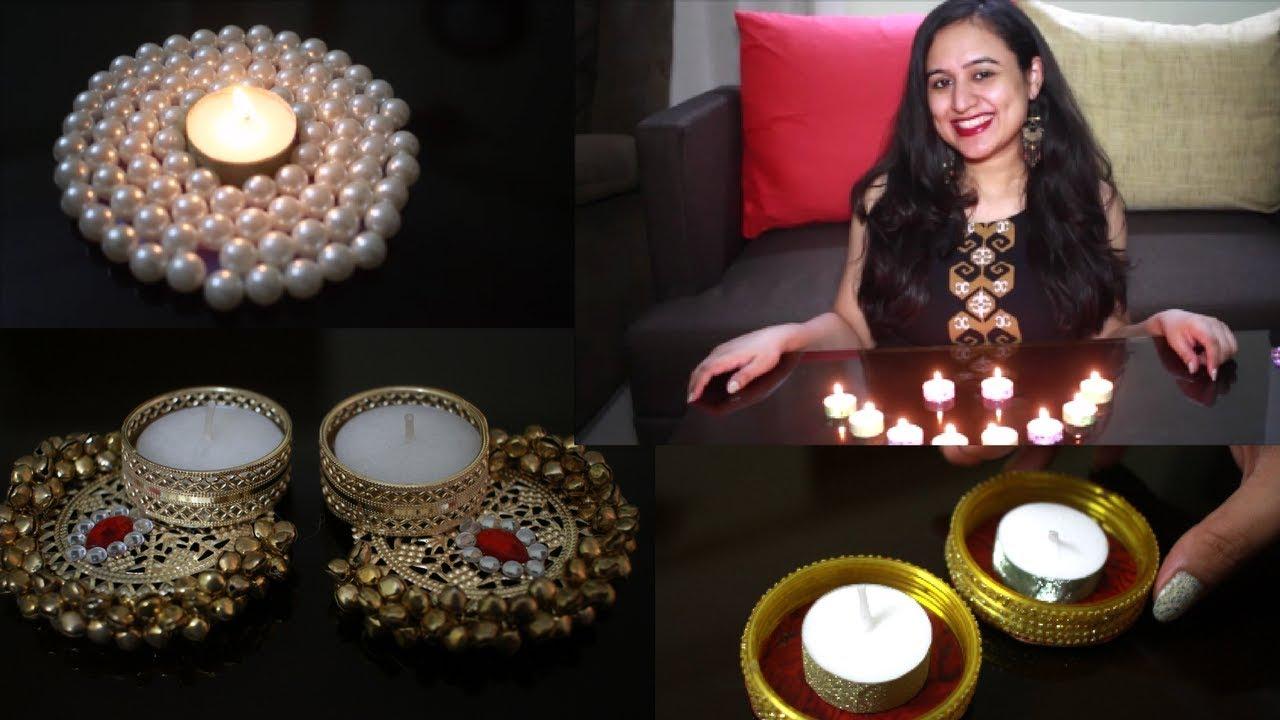 Best diya decorations ideas 2017 diy easy and creative for Diya decoration youtube