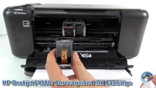 HP Deskjet F4580: Unrecognised Ink Cartridge