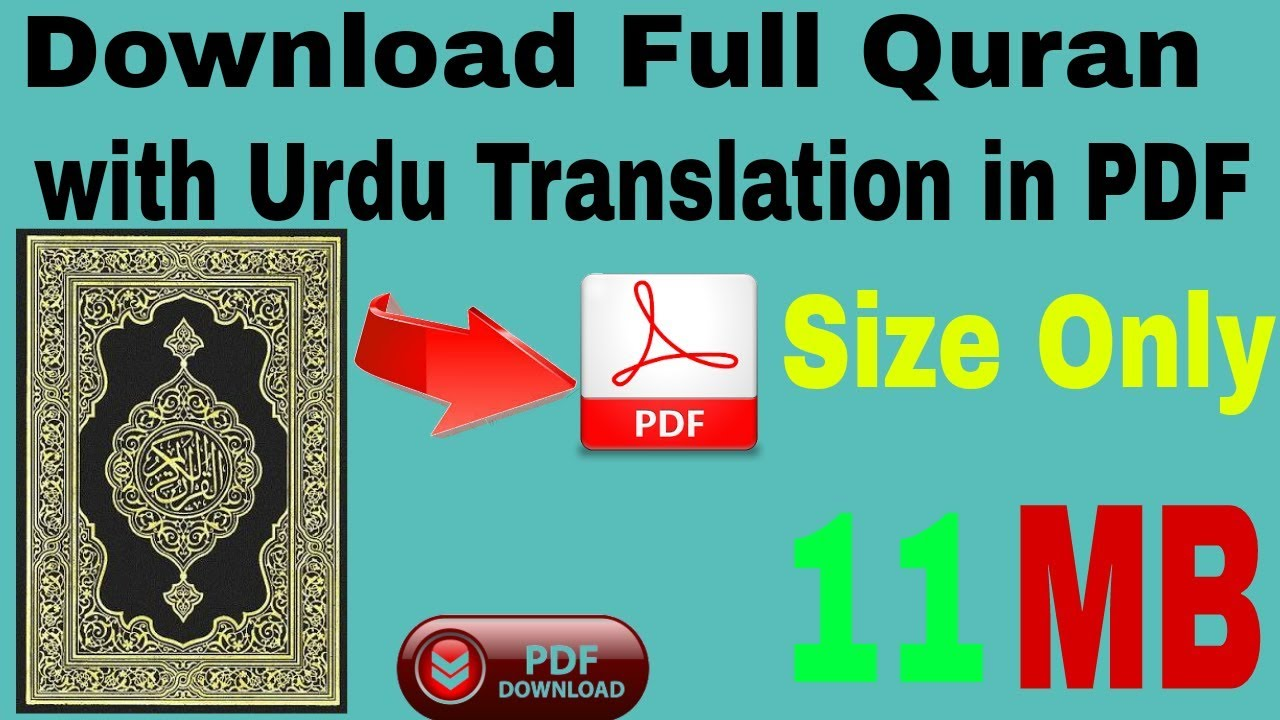 Complete Quran Pak With Urdu Translation Pdf Format