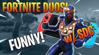 FORTNITE DUOS ft. SDC! Nintendo Switch Fortnite Battle Royale! FUNNY!
