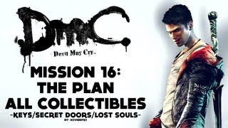 Dmc: Devil May Cry - Mission 16: The Plan - All Collectibles (keys, Lost Souls, Secret Doors)
