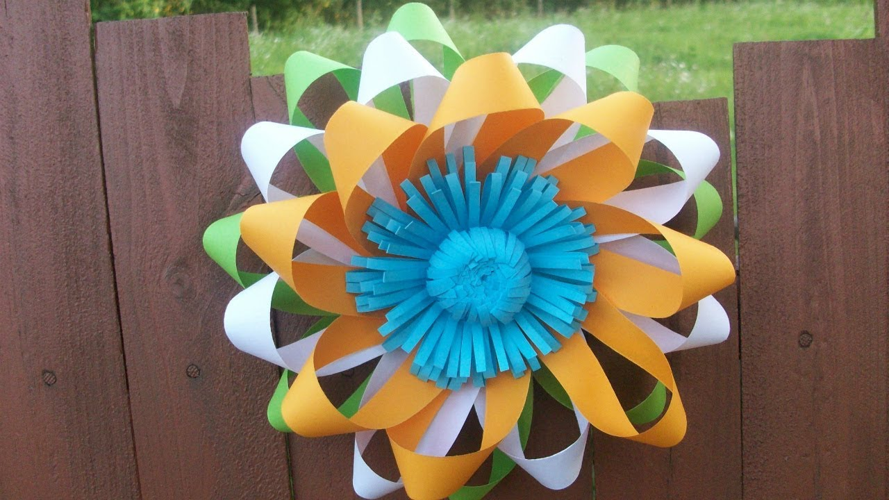 Easy Paper Flower Wall Decorations For Wedding Republic Day Party